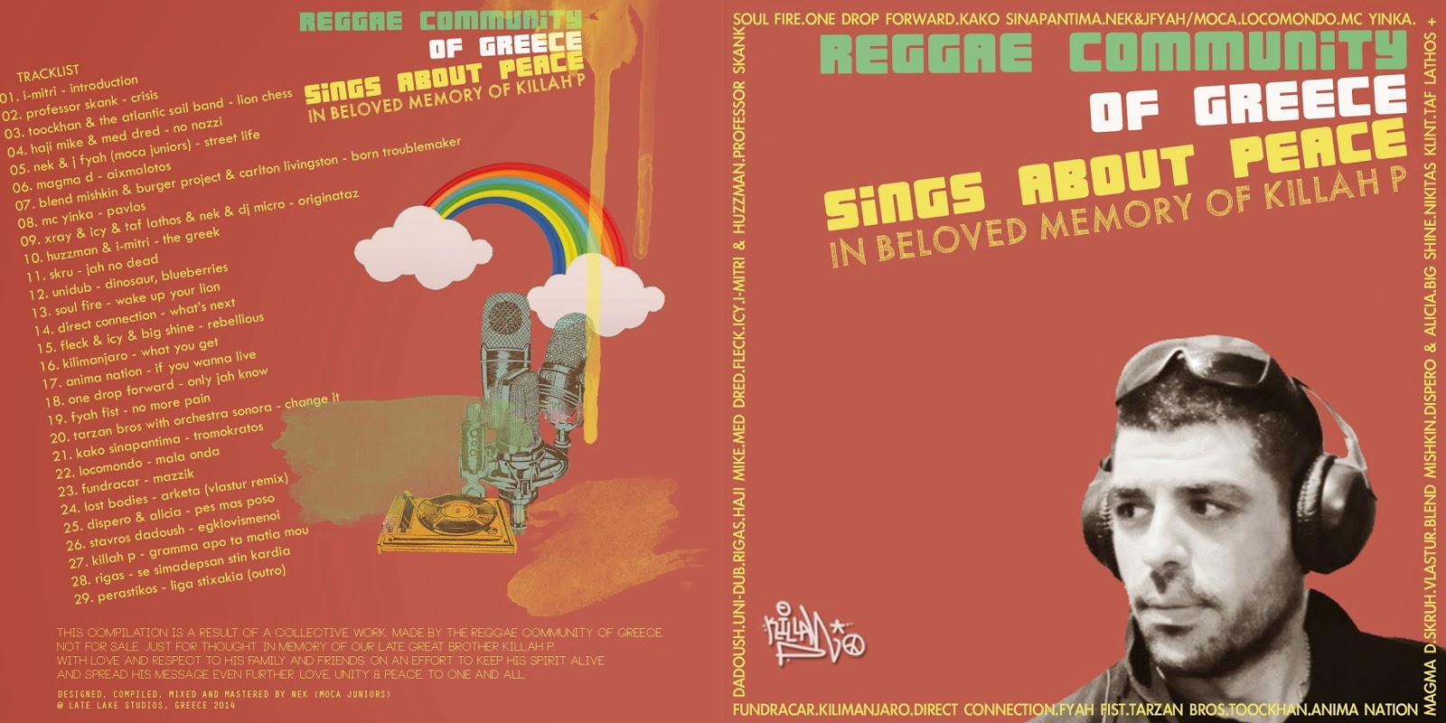 REGGAE COMMUNITY OF GREECE SINGS ABOUT PEACE KILLAH P CD ARTWORK2